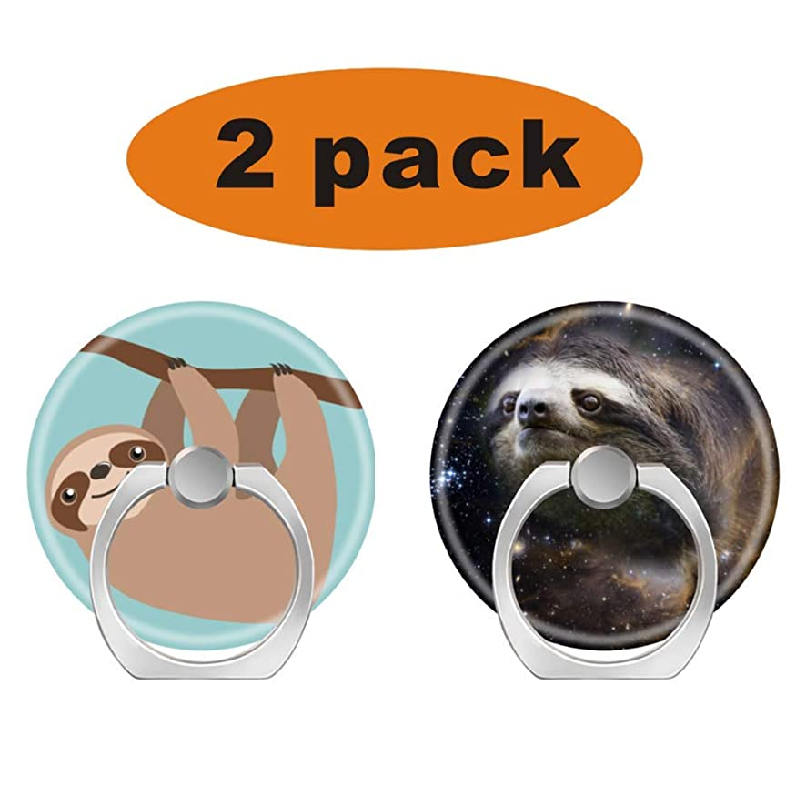 Ring Holder for Cell Phone Finger Socket Stand,Smartphone Bracket Pop Kickstand for All Phones,Cases,Tablets - Cute Sloth on a Branch Galaxy