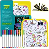 QUCHENG Jouet de Dessin Graffiti Lavable et réutilisable, Livre de Tissu sans Craie pour Enfants portatif, Livre de Graffiti écrit avec de la Peinture Magique pour Enfants (Petite Licorne)
