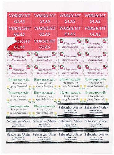 Sattleford Etiketten selbstklebend: 1120 Adress-Etiketten Mini 48,8x25,4 mm für Laser/Inkjet (Klebeetiketten für Drucker)