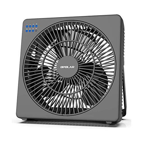 S2Y 8-Zoll-Schreibtisch-Ventilator mit Timer, USB betrieben, 5 Geschwindigkeiten Leistungsstarke Wind, Leiser Betrieb für Personal Office, Tisch Hanging Fan