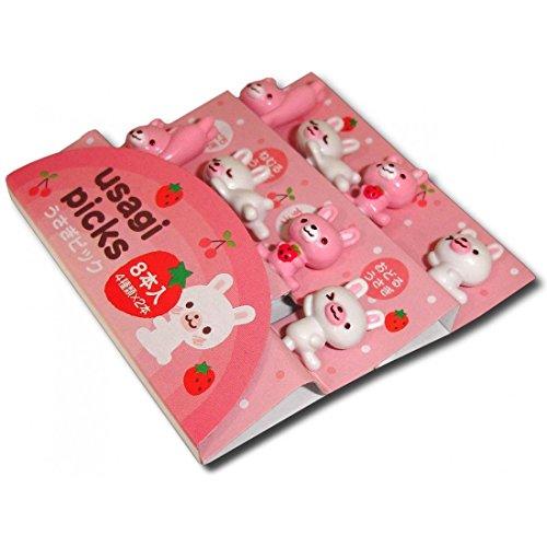 CuteZCute Bento 3D Food Pick, 8-Piece, Rabbit
