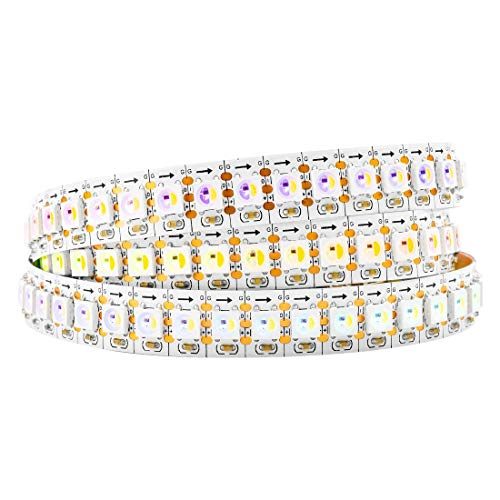 BTF-LIGHTING RGBW RGBWW Warm White SK6812 (Similar WS2812B) 3.3ft 1m 144leds/pixels/m Individually Addressable Flexible 4 color in 1 LED Dream Color LED Strip Non-waterproof DC5V