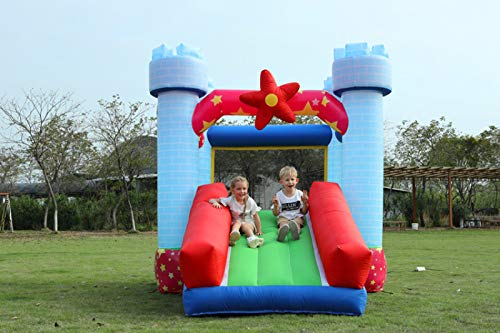 ZHENGRUI Centro De Juegos Inflables Seguro Castillo Hinchable Trampolín Inflable De La Casa para El Jardín Exterior