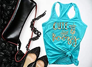 Cute and Boozy Tank Top,Tequila Bachelorette Shirts, Alcohol Funny Birthday Tank Tops