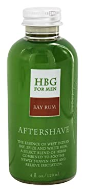 Honeybee Gardens: Men's Products, Herbal Gluten-Free Vegan Aftershave, Bay Rum, 4 oz