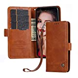 Suordii Case for Sony Xperia XZ3 Case, Retro Wallet Leather