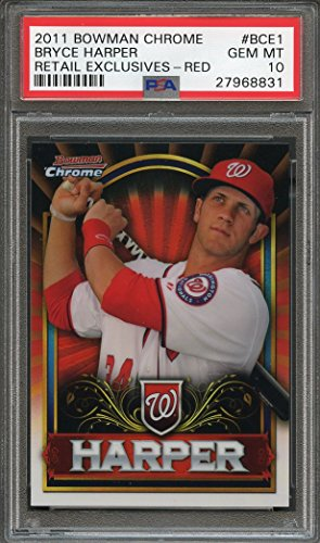 2011 bowman chrome retail exclusives red #bce1 BRYCE HARPER rookie card PSA 10 Graded Card