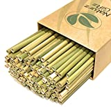 100% Premium Grass Straws, Natural, Sustainable, Biodegradable, Eco Friendly, Pack of 100, Healthier Alternative to plastic, paper straws and reusable bamboo, silicone, and metal straws