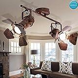 Decken Spot Strahler Lampe Leuchte Vintage Retro Industrie Rost-Design Beleuchtung Metall 2-Flammig