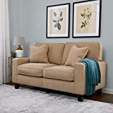 Serta RTA Palisades Collection 61' Loveseat in Silica Sand