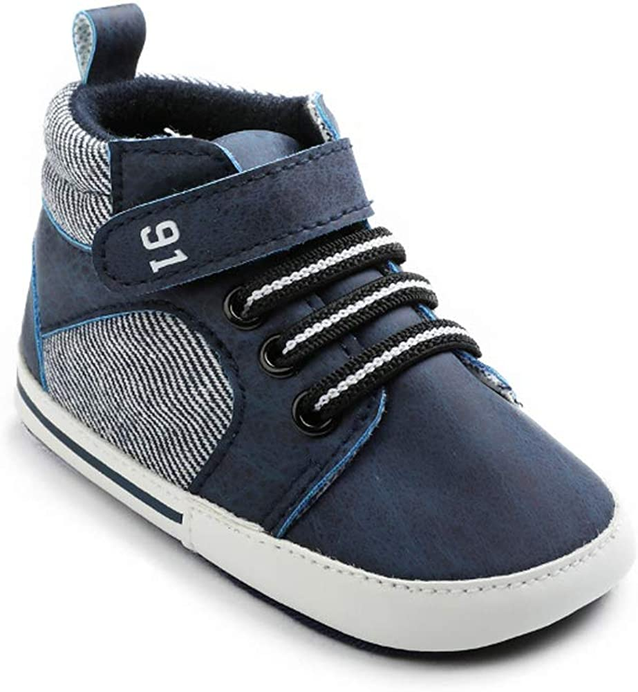Baby Boys Girls Ankle High-Top Anti-Slip Todd Super sale period limited At the price of surprise Sole Soft Sneakers