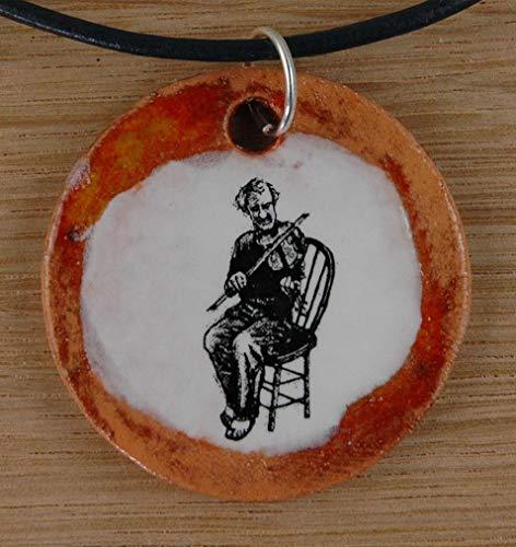 Echtes Kunsthandwerk: Hübscher Keramik Anhänger
