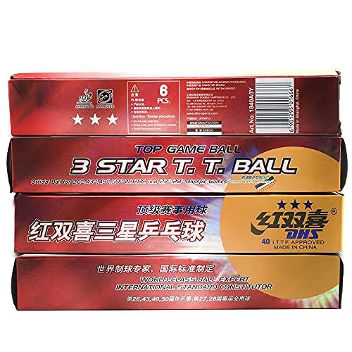 DHS Tischtennisbälle 3 Sterne 40 mm 24 Pack, Tischtennisbälle, Weltklasse internationaler Standard