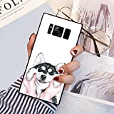 Samsung Galaxy S8 Squared Case Heavy Duty Protection Shock Absorption Slim Soft TPU Edge and Hard PC Case Cover for Samsung Galaxy S8 Husky Pug Dog Design