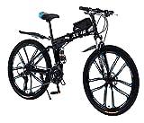 26 Zoll Mountainbike Faltrad für Erwachsene 27-Gang-Doppelscheibenbremse Volle Federung Anti-Rutsch,Leichter Rahmen Mit Fahrradtasche Geeignet für Herren-und Damenräder/Versand aus deutschem Lager