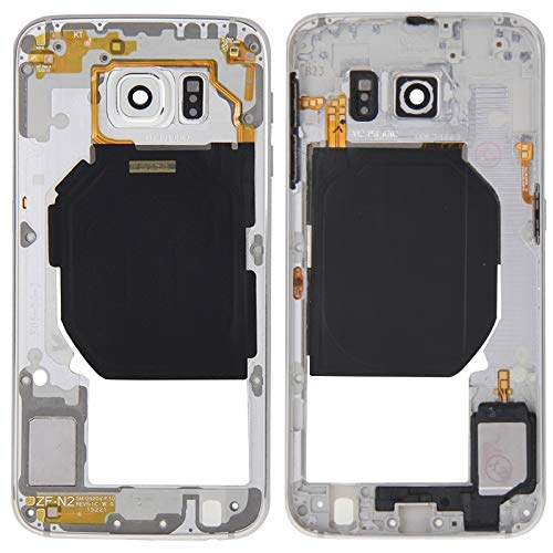 CHENZHIQIANG Best Replacement Parts Frame Bezel Plate Case for Samsung Galaxy Back Plate Housing Camera Lens Panel with Side Keys and Speaker Ringer Buzzer for Galaxy S6 / G920F(Grey) (Color : White)