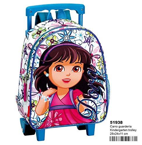 Dora rugzak met wielen voor kleuterschool van Dora&Friends 'Glitter vrije tijd en sportwear, volwassenen, unisex, meerkleurig (meerkleurig), eenheidsmaat