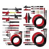 Herramientas manuales 15 En 1 enchufe de plátano del multímetro cables de prueba Gancho Kit de perforación del aislamiento Sonda de aguja Automotive Test Set IC Accesorios multímetros