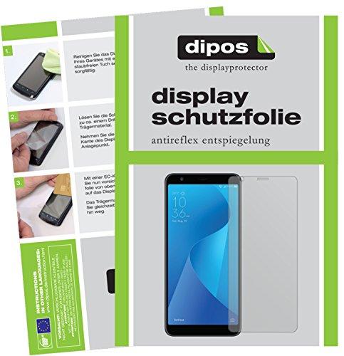dipos I 6X Schutzfolie matt kompatibel mit Asus ZenFone Max Plus M1 (ZB570TL) Folie Bildschirmschutzfolie