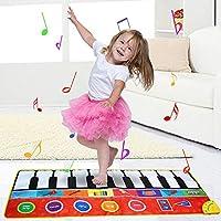 148 * 60センチメートル/ 58 * 24インチミュージカルマット折りたたみピアノマットキッズキーボード電子音楽カーペットタッチプレイ学習歌う毛布子供のための幼児早期教育おもちゃ