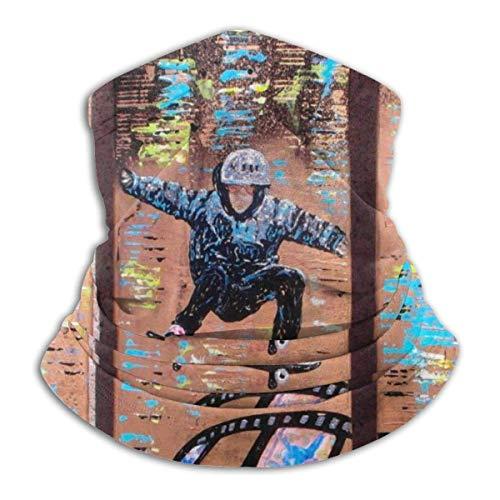 Skateboard Art Neck Gaiter Warmer Windproof Face Shield Scarf Magic Balaclava Sports de Plein air