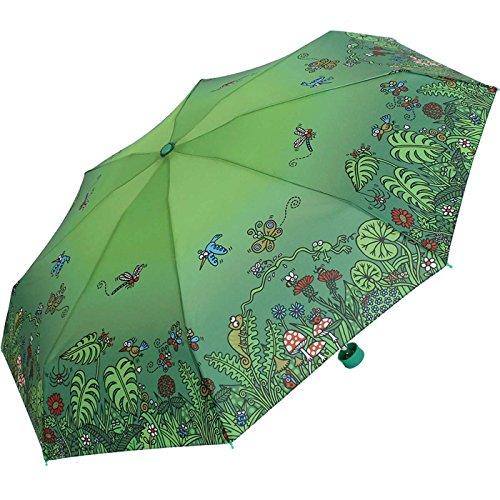 Kukuxumusu - Paraguas de bolsillo (tamaño pequeño), verde (Multicolor) - .