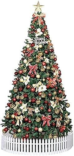 Árbol de Navidad pre Iluminado Pre-Decorado Artificial,Premium con bisagras de Abeto Árbol...