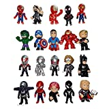 20 PCS Superhero Mini Action Figures , Super&Man Cupcake Topper Figurines for Kids, Ideal for Birthday Party Favors, Children Toys, Collectibles, Gifts, Christmas Cake Decorations Ornaments