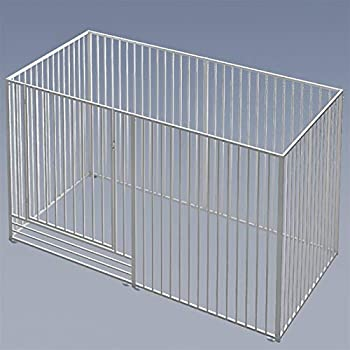 ZXJTX Pet Kennel Cover Heavy Duty Foldable Metal Pet Dog Puppy Cat Exercise Fence Barrier Playpen Kennel Outdoor & Indoor Pets Dog Crate