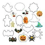 GHJK Ausstechformen Fondant PläTzchen Keksausstecher Aus Edelstahl Für Kinder Geburtstag Party Deko Ostern Halloween Weihnachten 10 StüCk