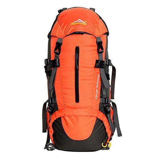 HWJIANFENG 45L+5L Backpack for Outdoor Sports Hiking Cycling Traveling Running Riding Mountaineering Bike Climbing Camping Waterproof Ultralight Laptop Bag Men Women