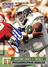 Antone Davis autographed Football Card (Philadelphia Eagles) 1991 Pro Set #737 - NFL Autographed Football Cards