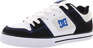 DC Shoes Men's Pure Skate Low Top Sneaker Shoes White Blk Blue