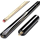 GVCT 3/4 Jointed Snooker Billiard Pool Cue - Handmade Ash Shaft 3 Piece Tips 9.7mm with Extension Accessories,Eye Catching Design,Improve Your Game Room