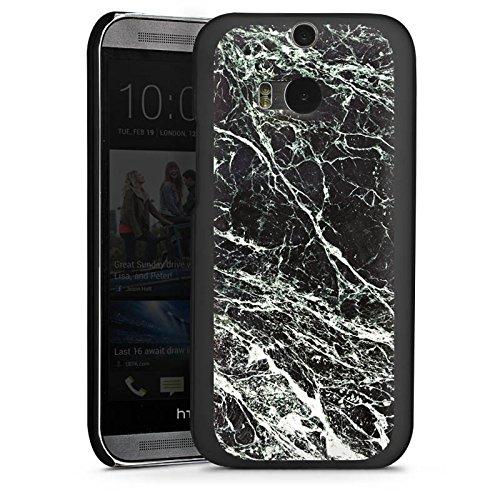 DeinDesign HTC One M8s Hülle Case Handyhülle Marmor Erscheinungsbild Schwarz Black Marble Marmoriert