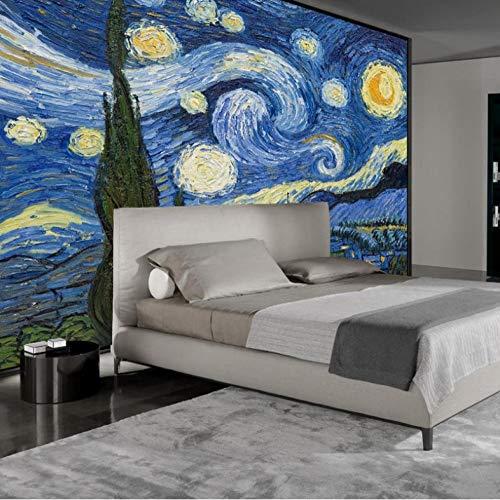 3D fotobehang wandschilderij sterrenhemel vliesbehang wandschilderij woonkamer wooncultuur schilderij poster 350x245cm