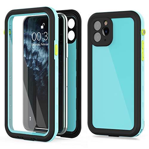 iPhone 11 Pro Waterproof Case,Built-in Screen Protector IP68 Waterproof Shockproof Dustproof Snowproof Full-Body Rugged Cover for Apple iPhone 11 Pro 5.8 inch (Teal/Green)