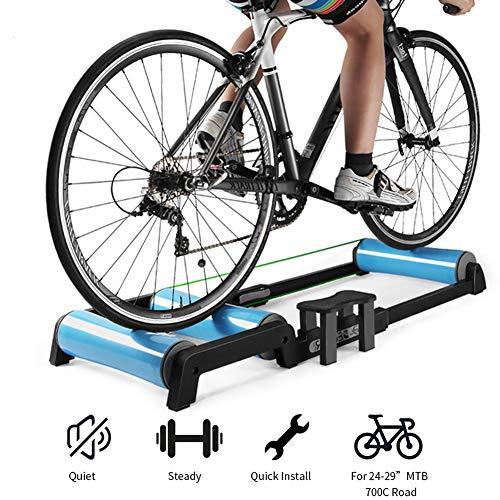 """24\""""- 29\"""" Klapp Fahrrad Trainer Ständer - Magnetische Turbo Fahrrad Übungs Walze - Stationäre Übung für Rennräder und Mountainbikes"""