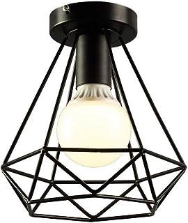 Techo de Metal de Reequipamiento lámpara de techo,Industrial lámpara,Lámpara de Techo Colgante de Estilo Vintage forma de diamante diámetro 21CM