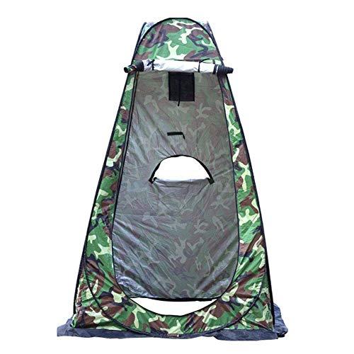 XLBHSH Privacidad Carpa, Privacidad Ducha Tienda Tienda Cambio portátil Tienda Pop-Up Ducha Privacidad Refugio Tienda Cambio a Prueba de Agua para Sun Shelter Beach Camping,Green Pattern