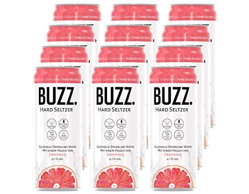 BUZZ. Hard Seltzer Grapefruit; 4.1% vol. (12 x 0,33L) EINWEG, incl. 3€ Pfand