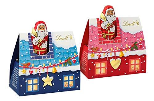 Lindt Weihnachtsmann im Mini Schornstein mit Vollmilch Schokolade 60g