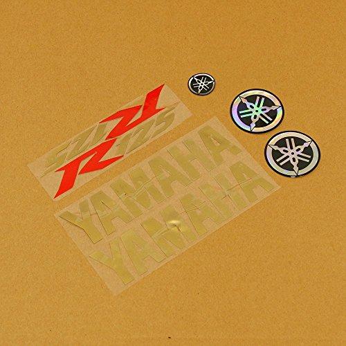 Gold/Rot/Gold 7-Stück Sticker Set Yamaha–yzf-r12508–17