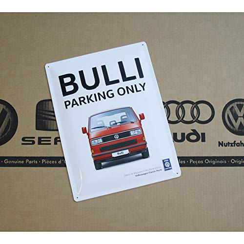 Volkswagen ZCP902907 Blechschild Bulli Parking Only Parkplatz Parkschild Schild, 30x40 cm