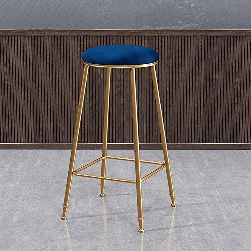 Ronde barkruk goud metaal barstoel ijzeren poten hoge stoel keuken barkruk ontbijt hoogte voetensteun