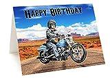 AK Giftshop, carte d'anniversaire - Moto Harley