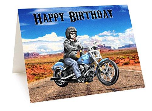 AK Giftshop Harley Motorbike Verjaardagskaart