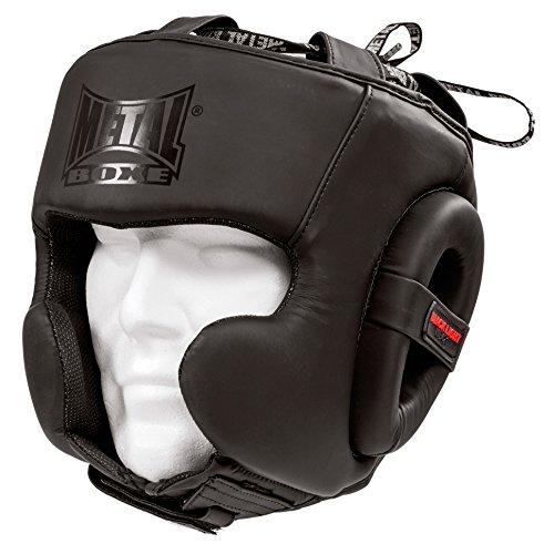 Metal Boxe casco semi integral unisex, Blacklight, única