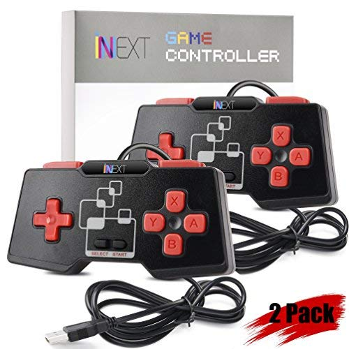 [Newest Version] iNNEXT SNES USB Controller Gamepad for Windows PC MAC Raspberry Pi (Pack of 2)
