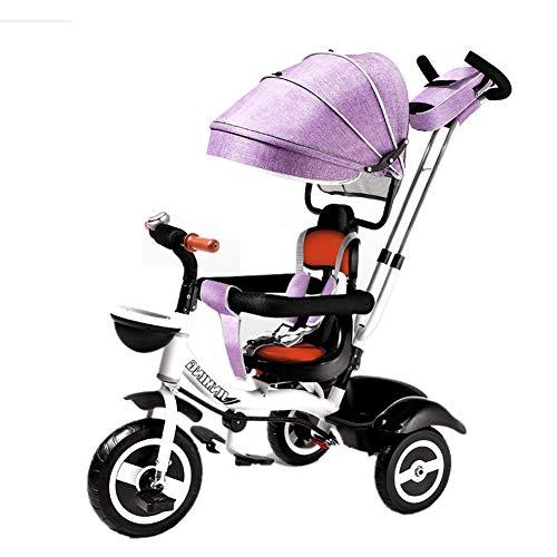 kinderwagen Kinderen driewieler, Slip Baby Artifact Trolley, 1-6 Jaar oud Licht en Stevige Kids Fietskarren Afneembare En Verstelbare Push Handvat Vouwen Zon Luifel Kind Trike